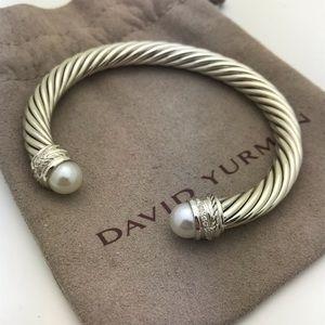 David Yurman 7mmCable Crossover Pearl Bracelet